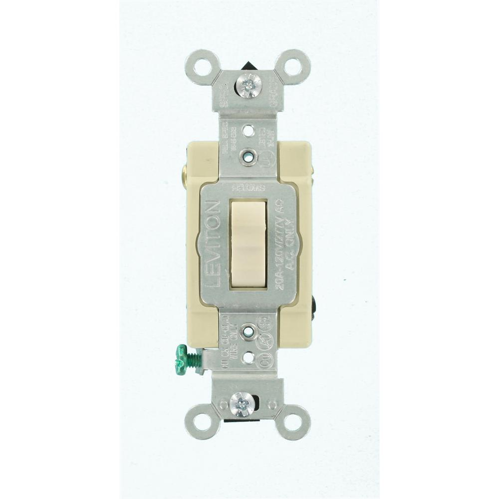 Leviton 20 Amp 4Way Toggle Switch Light AlmondR660CSB42TS The