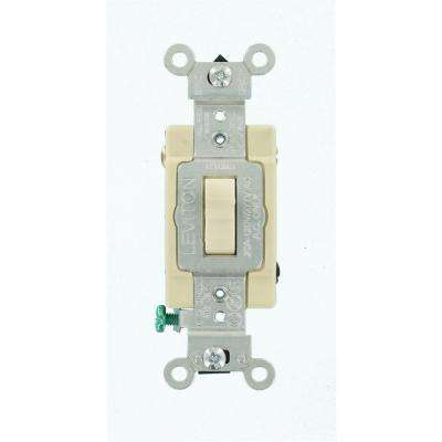 20 Amp 4-Way Toggle Switch, Light Almond