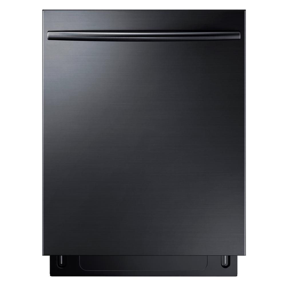 Shop Samsung 55 Decibel Built In Dishwasher Stainless: Samsung StormWash Top Control Dishwasher In Black