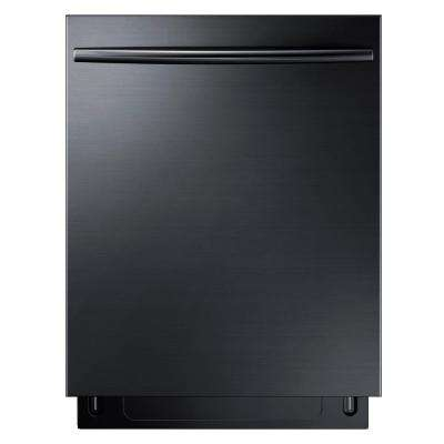 24 in Top Control Tall Tub StormWash Dishwasher in Fingerprint Resistant Black Stainless, AutoRelease, 3rd Rack, 44 dBa