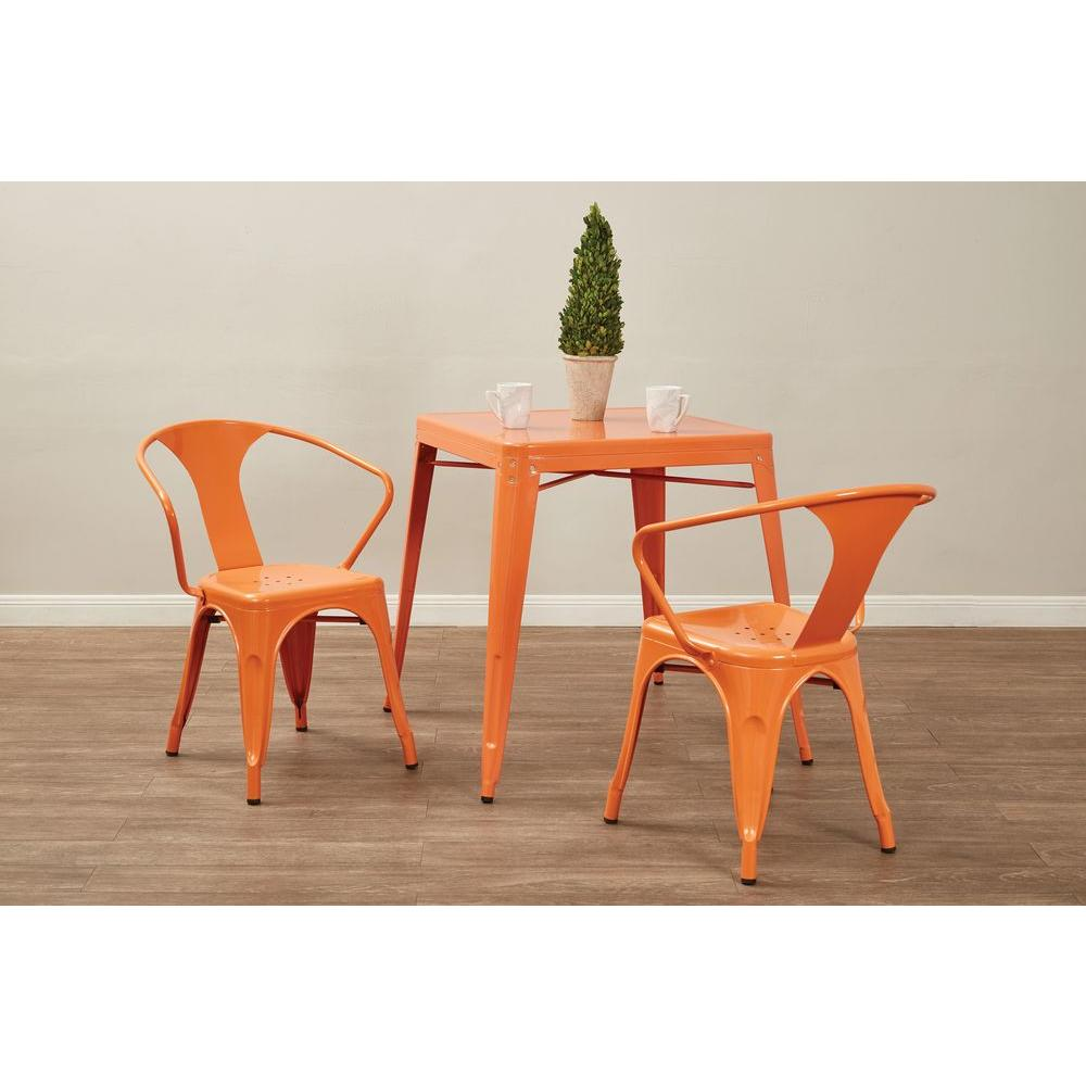 Ordinaire Patterson Orange Metal Side Chair (Set Of 4)