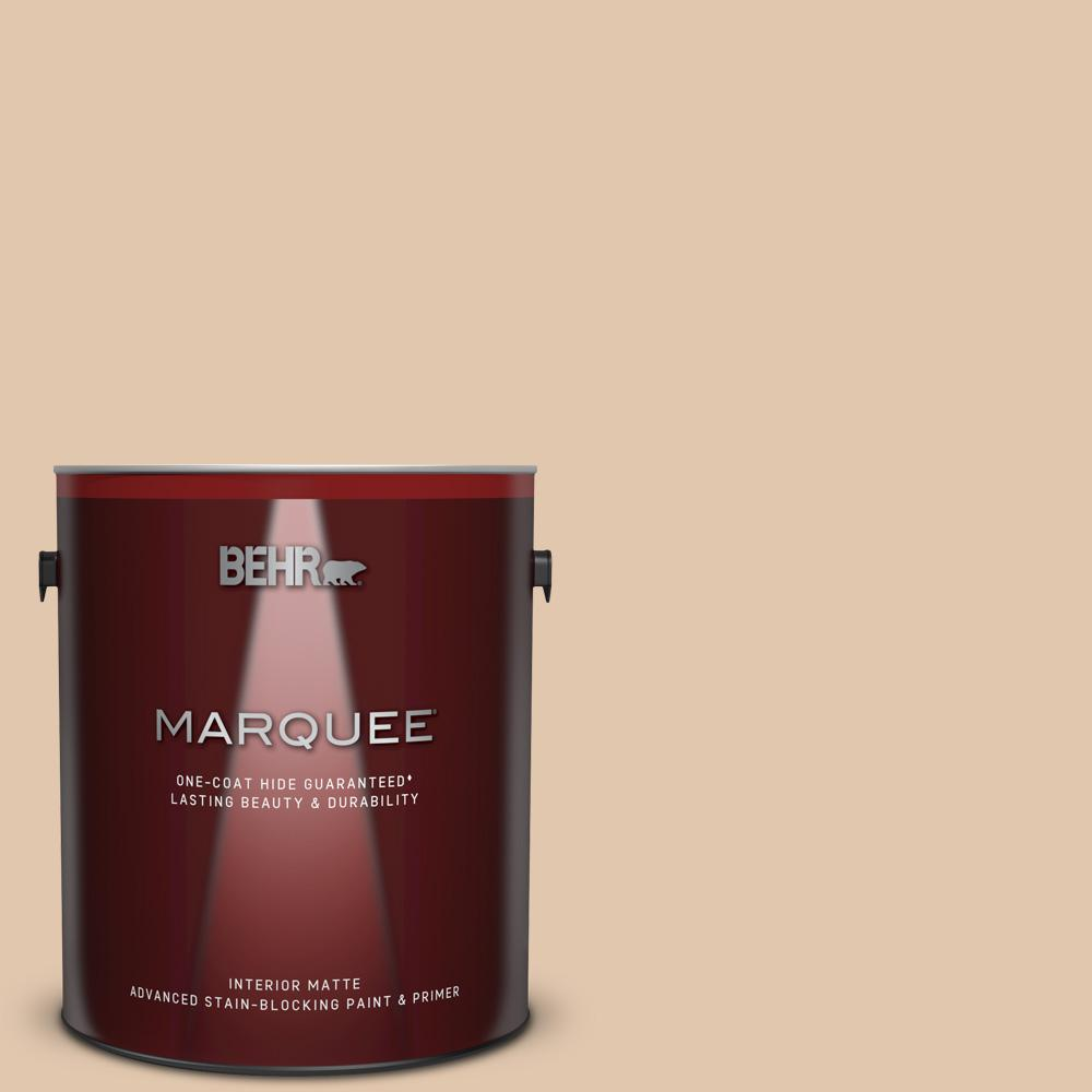 BEHR MARQUEE 1 gal. #MQ2-08 Irish Cream One-Coat Hide Matte Interior Paint and Primer in One