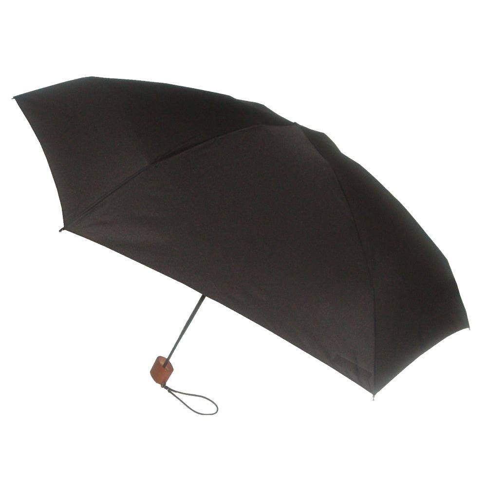 London Fog 42 in. Arc Canopy Mini Umbrella in Black