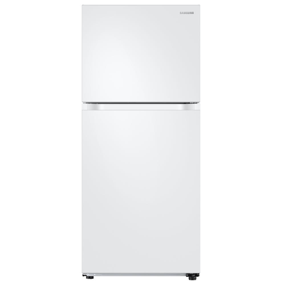 Samsung 17.6 cu. ft. Top Freezer Refrigerator with FlexZone Freezer in White, Energy Star This Samsung Top Freezer Refrigerator truly is one of a kind and unlike any other. Featuring FlexZone, which is a versatile top door that can be a fridge or freezer, maximizing fresh food storage space. This allows you to expand your refrigerator space to chill your favorite beverages, snacks or party food. Unless you simply keep it as a freezer, but this is completely up to you. It also has Twin Cooling Plus, which maintains the humidity level of the refrigerator keeping foods fresher, longer. For example, dry freezer conditions for less freezer burn and better tasting foods. Ice maker available in model # RT18M6215WW. Color: White.