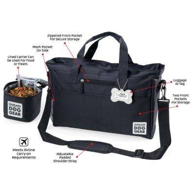 Day Away Tote Travel Bag for Dog Accessory in Black