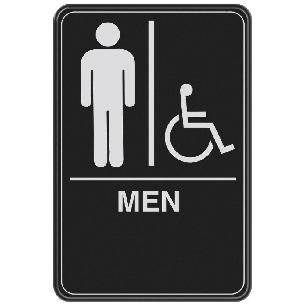 Everbilt 6 in. x 9 in. Men with Handicap Accessible Symbol ...