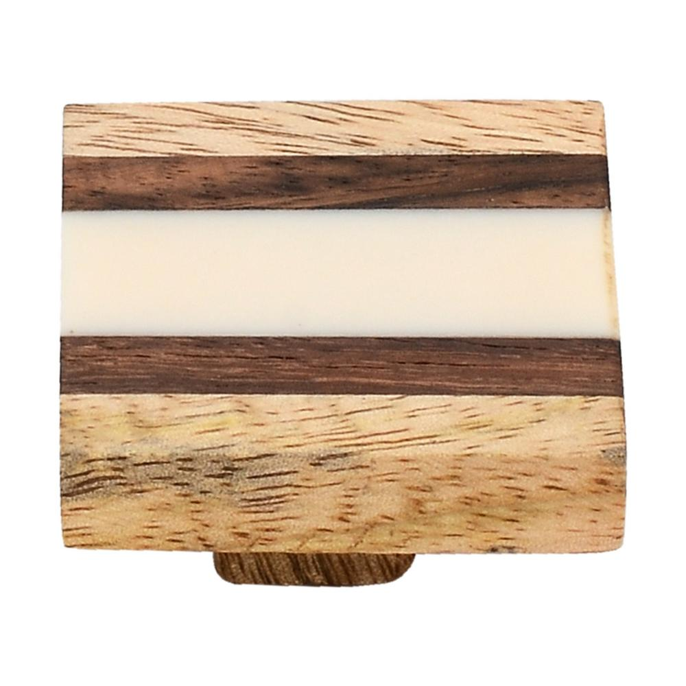 Mascot Hardware Fusion Striped 1-4/7 in. Wood Cabinet Knob
