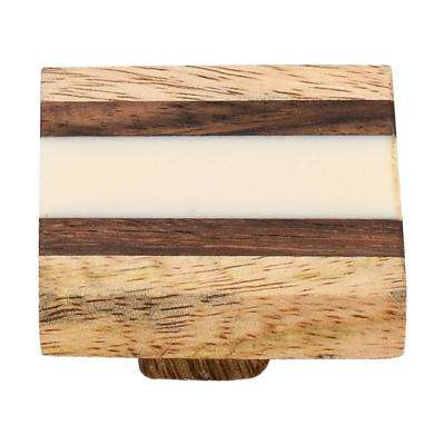 Fusion Striped 1-4/7 in. Wood Cabinet Knob
