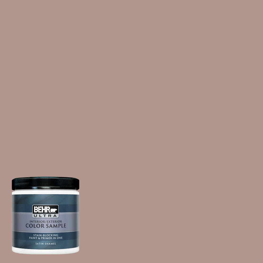Behr Ultra 8 Oz N160 4 Sonora Rose Satin Enamel Interior Exterior Paint And Primer In One Sample Ul22416 The Home Depot