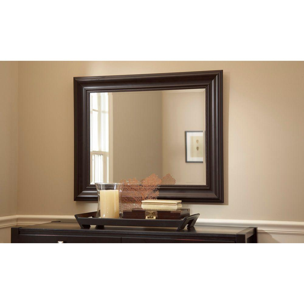 bathroom mirror 30 x 40 martha stewart living saranac 36 in x 30 in framed 22219