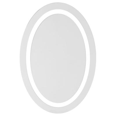 Glimmer 19.7 in. x 27.6 in. Wall Mounted Round Mirror