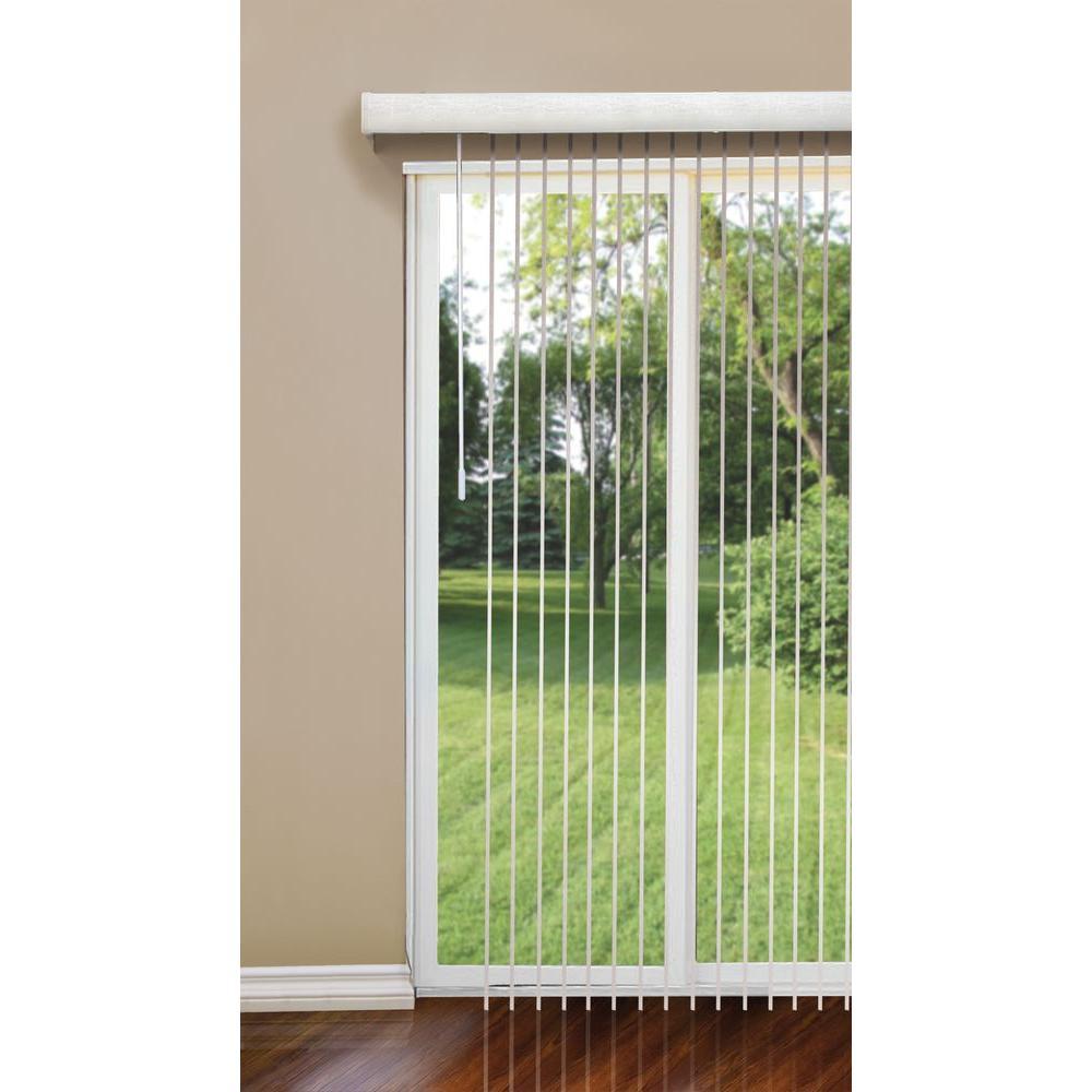 designview Kingsley-Ultra White 3.5 in. Vertical Blind - 78 in. W x 84 in. L