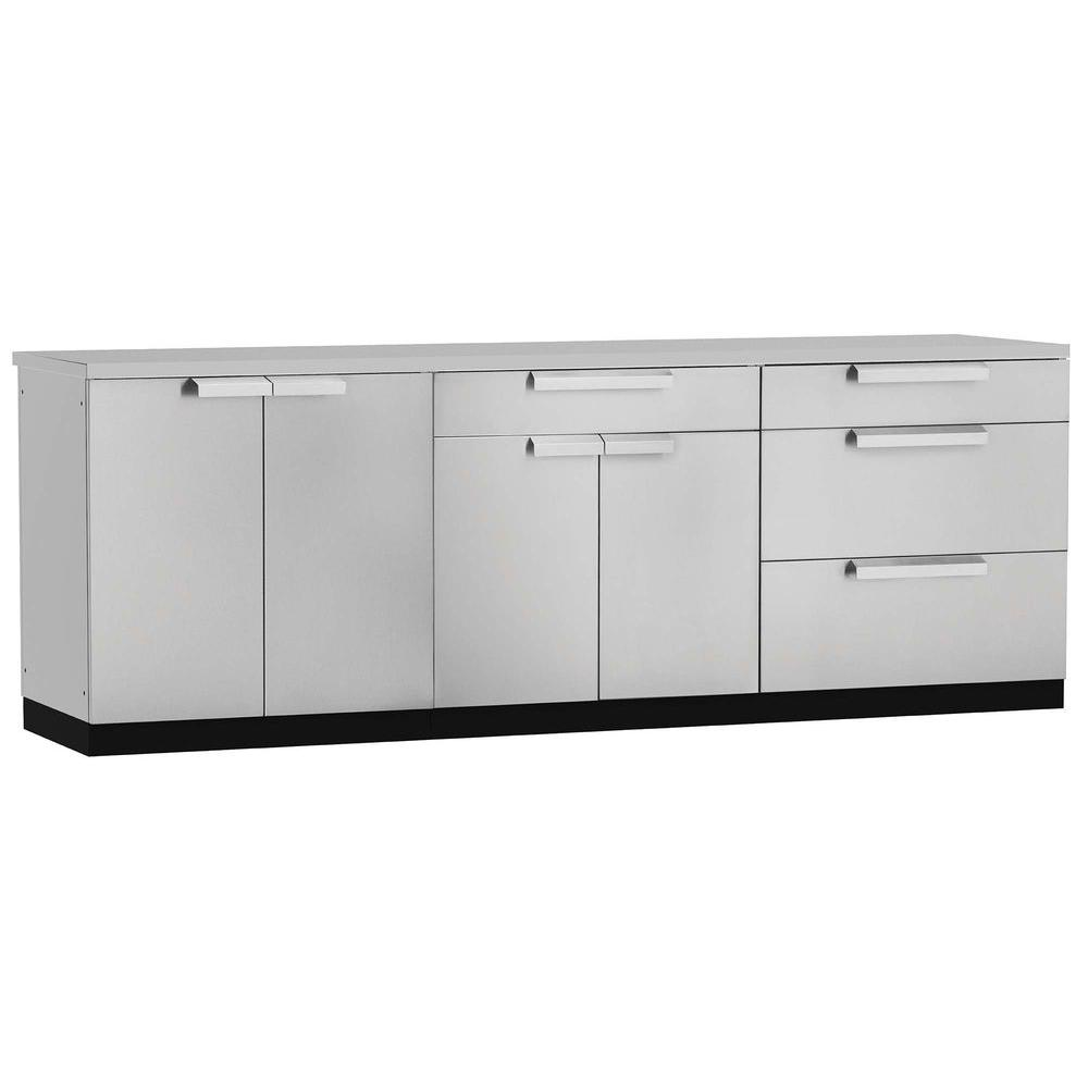 Stainless Kitchen Cabinet: NewAge Products Stainless Steel Classic 4-Piece 97x36x24