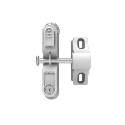 GardDog 9 in. x 3.25 in. x 8 in. Nylon/Stainless Steel White Locking Gravity Latch with 1-Sided Key Entry