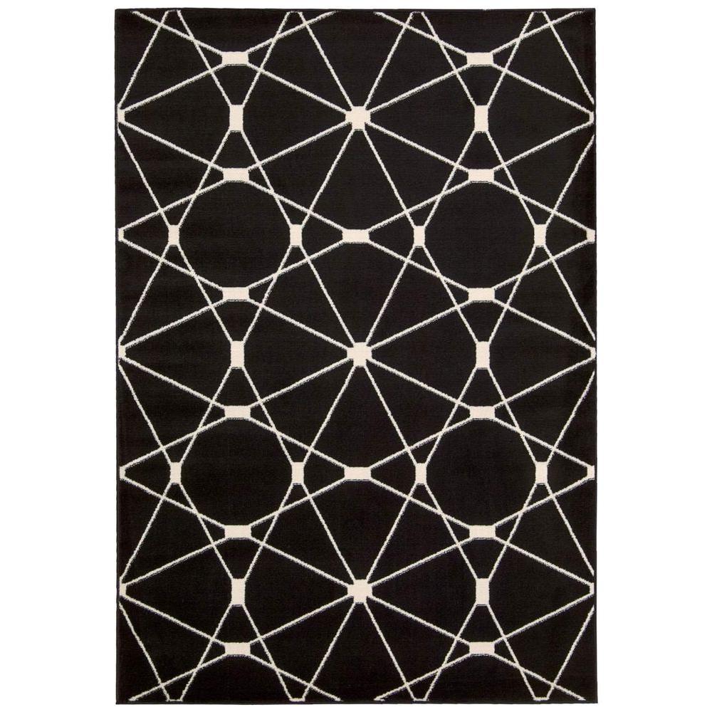 Nourison Nova Black 3 ft. 11 in. x 5 ft. 3 in. Area Rug