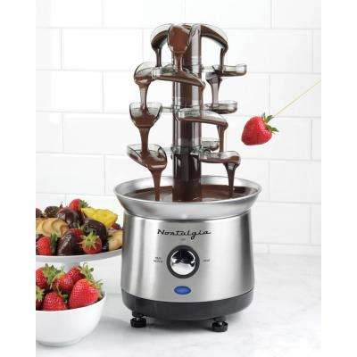 Cascading Chocolate Fondue Fountain in Stainless Steel