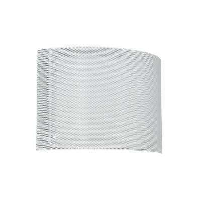 Horizontal Mesh 1-Light GU24 White Sconce