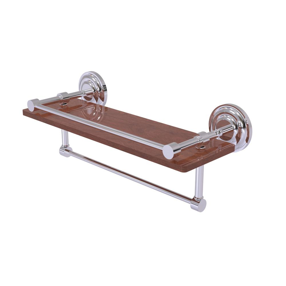 Allied Brass Que New Collection 16 In Ipe Ironwood Shelf