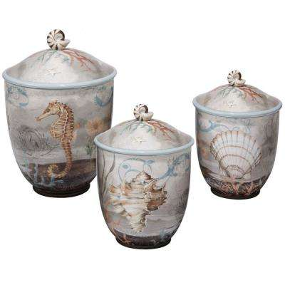 Coastal View 3-Piece Canister Set