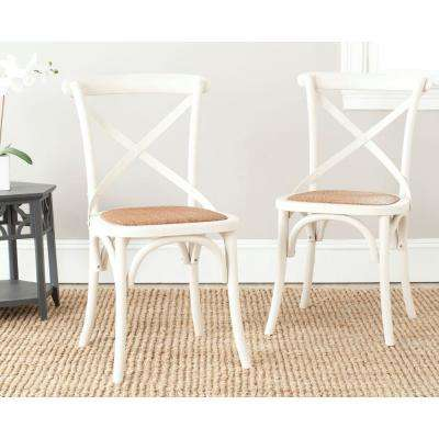 Franklin Ivory Oak U0026 Rattan X Back Dining Chair (Set Of ...