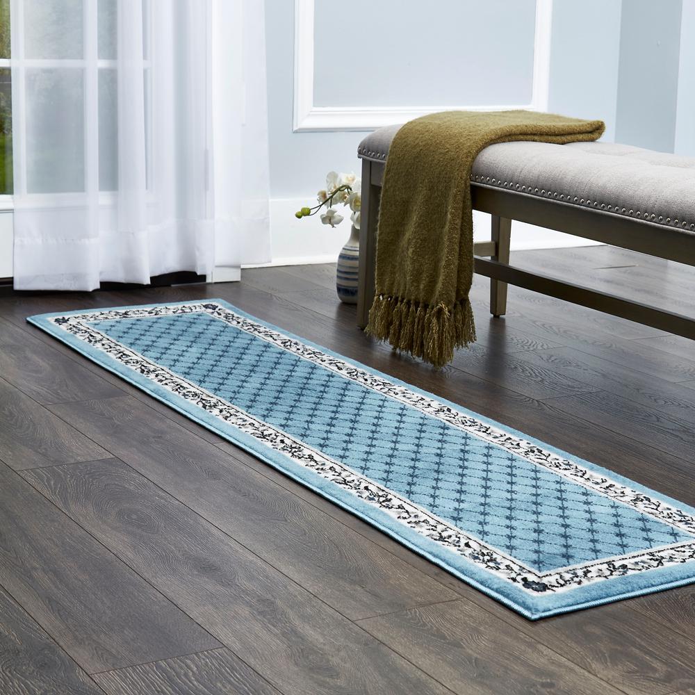 Premium Blue 1 ft. 9 in. x 7 ft. 2 in. Indoor Area Rug