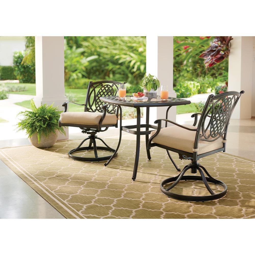 Belcourt Metal Square Outdoor Bistro Table