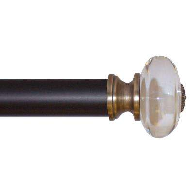 clear glass 28 48 in telescoping 114 in rod