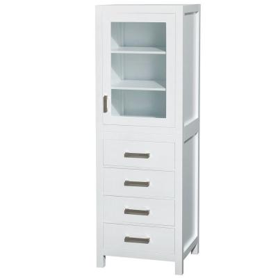 Sheffield 24 in. W x 71-1/4 in. H x 20 in. D Bathroom Linen Storage Tower Cabinet in White
