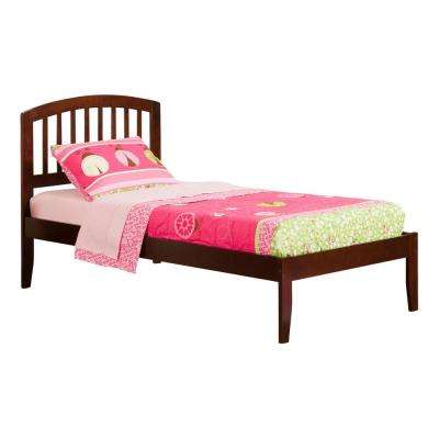 Richmond Walnut Twin XL Platform Bed with Open Foot Board