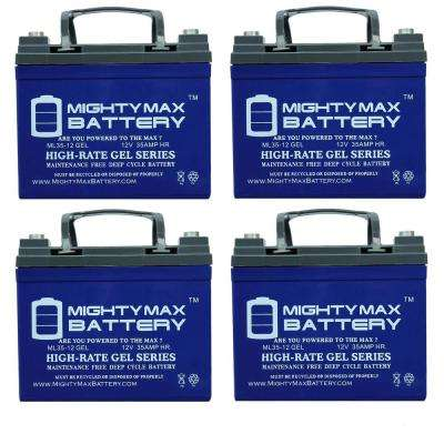 12-Volt 35 Ah SLA GEL AGM Type Internal Medical Mobility Replacement Battery (4-Pack)