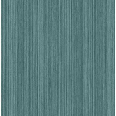 Crewe Teal Vertical Woodgrain Strippable Wallpaper Covers 56.4 sq. ft.