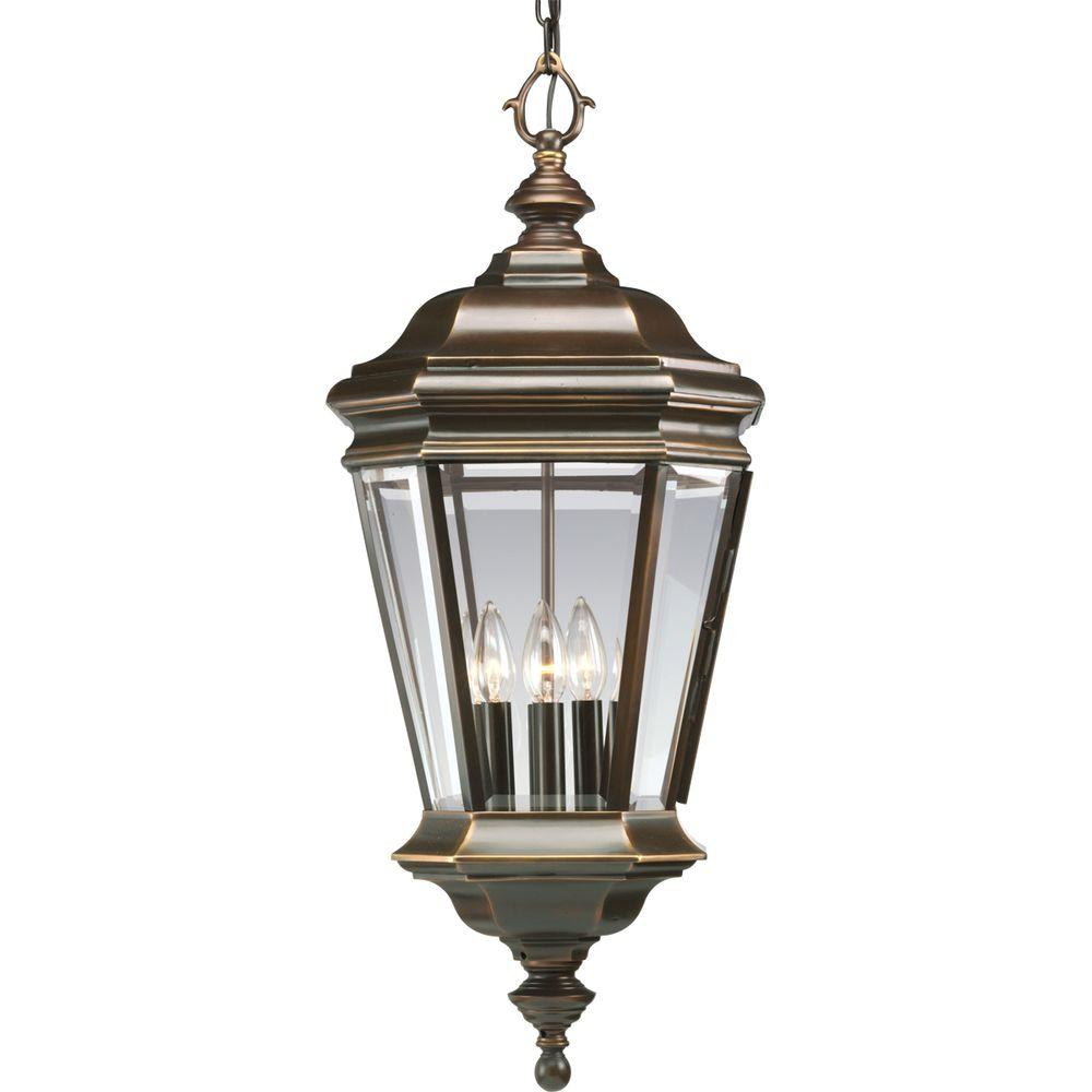 Progress Lighting Crawford Collection 4-Light Oil-Rubbed Bronze ...
