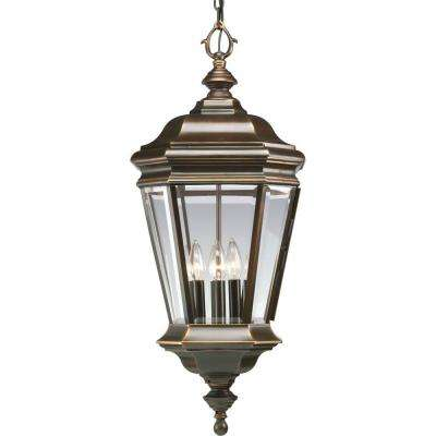 Crawford Collection 4-Light Oil-Rubbed Bronze Outdoor Hanging Lantern