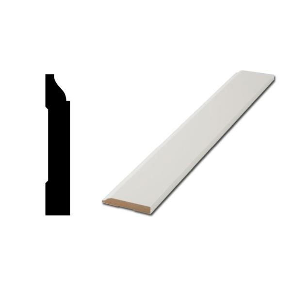 WM 623 9/16 in. x 3-1/4 in. x 12 ft. MDF Base Moulding Pro Pack (8-Piece at 144 in.)
