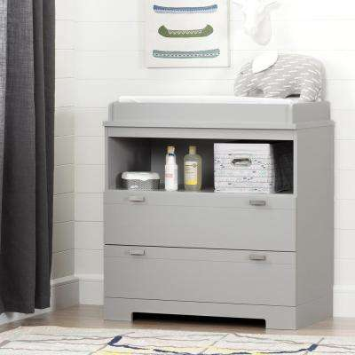 Reevo 2-Drawer Soft Gray Changing Table
