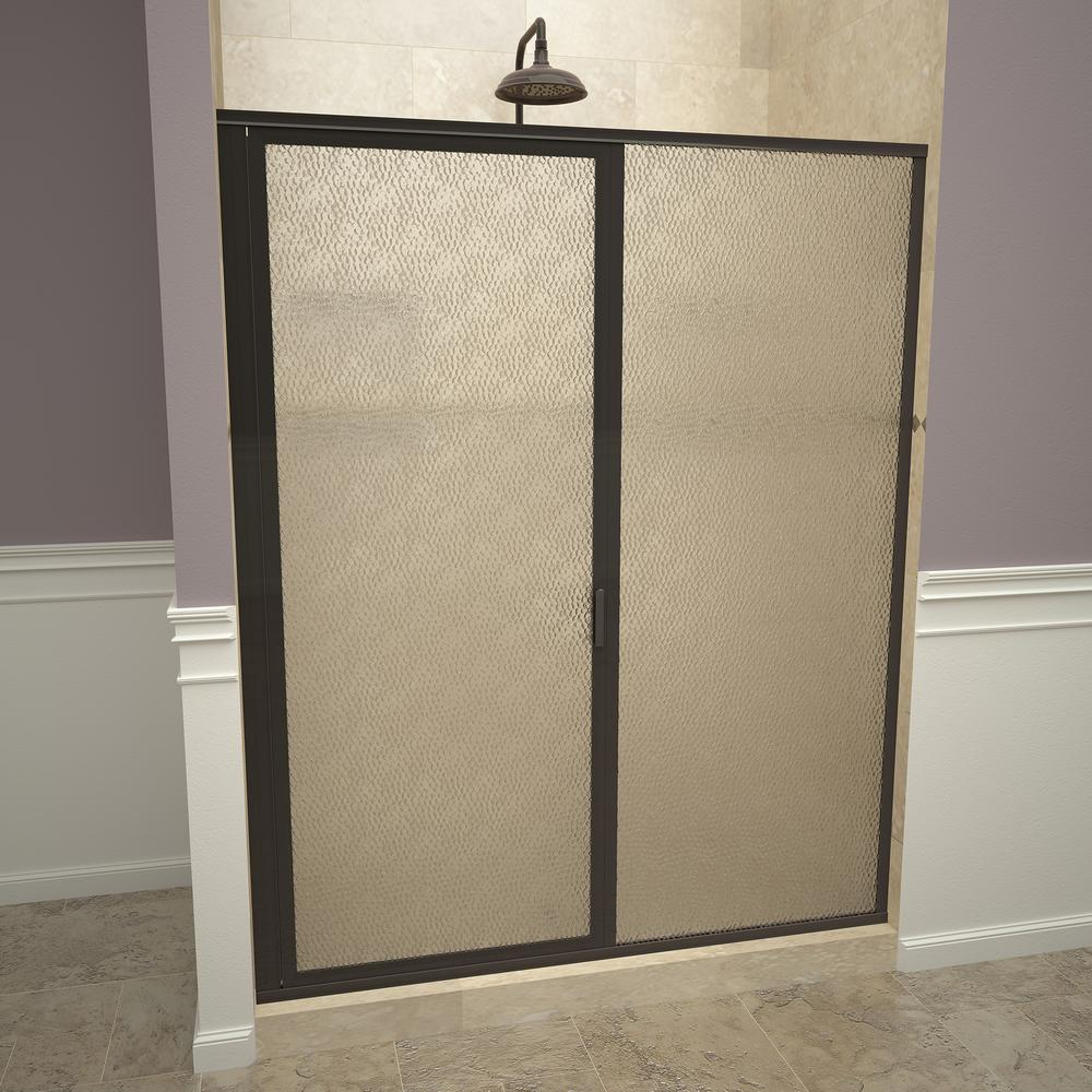 Redi swing 1100 series 47 in w x 68 5 8 in h framed - Obscure glass windows for bathrooms ...