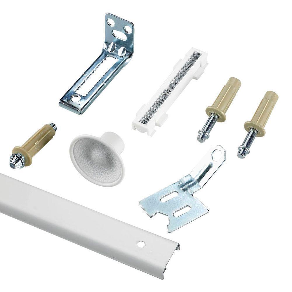 72 Inch Bi Fold Closet Door Track Hanging Mounting Hardware Set 4 Panel White