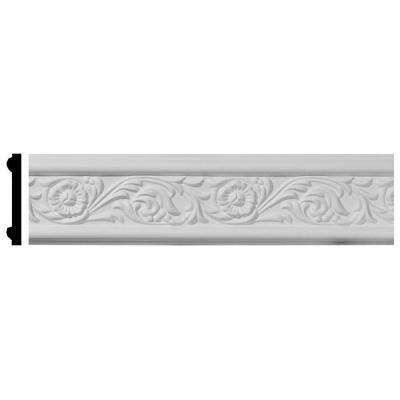 1/2 in. x 3-1/8 in. x 94-1/2 in. Polyurethane Emery Floral Chair Rail Moulding