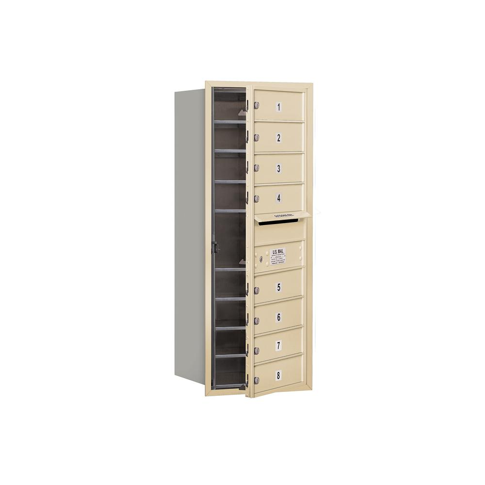 3700 Horizontal Series 8-Compartment Recessed Mount Mailbox