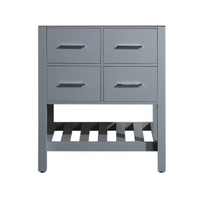 Bosconi 29 in. Main Cabinet Only in Grey with Matte/Polished Chrome Hardware