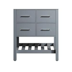 29 inch Main Cabinet Only in Grey with Matte/Polished Chrome Hardware