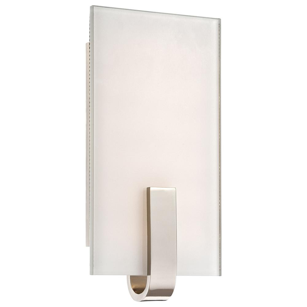 12-Watt Polished Nickel Integrated LED Wall Sconce