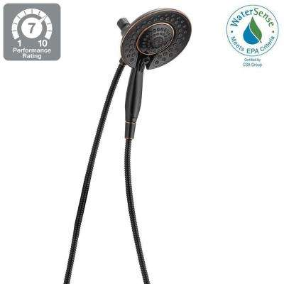 In2ition 5-Spray 2-in-1 Hand Shower and Shower Head Combo Kit with Pause in Venetian Bronze