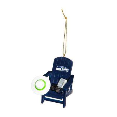 Seattle Seahawks 3-1/2 in. NFL Adirondack Chair Christmas Ornament