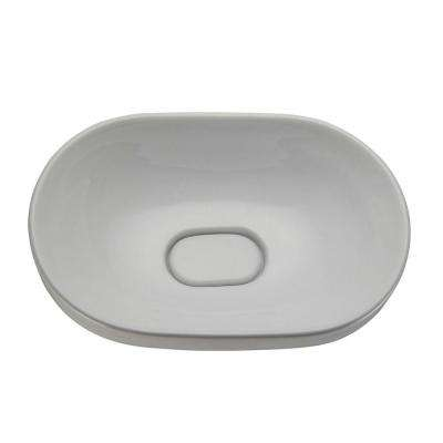 Classically Redefined Semi Recessed Oval Bathroom Sink in White
