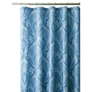 Home Decorators Collection Dandridge 72 inch Shower Curtain in Indigo by Home Decorators Collection
