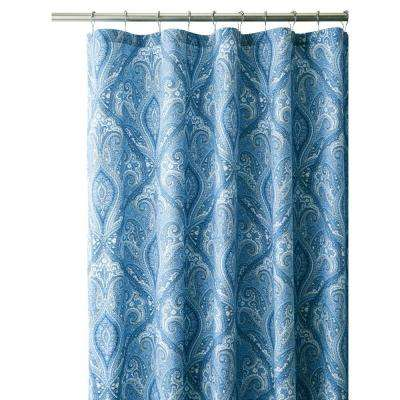 Dandridge 72 in. Shower Curtain in Indigo