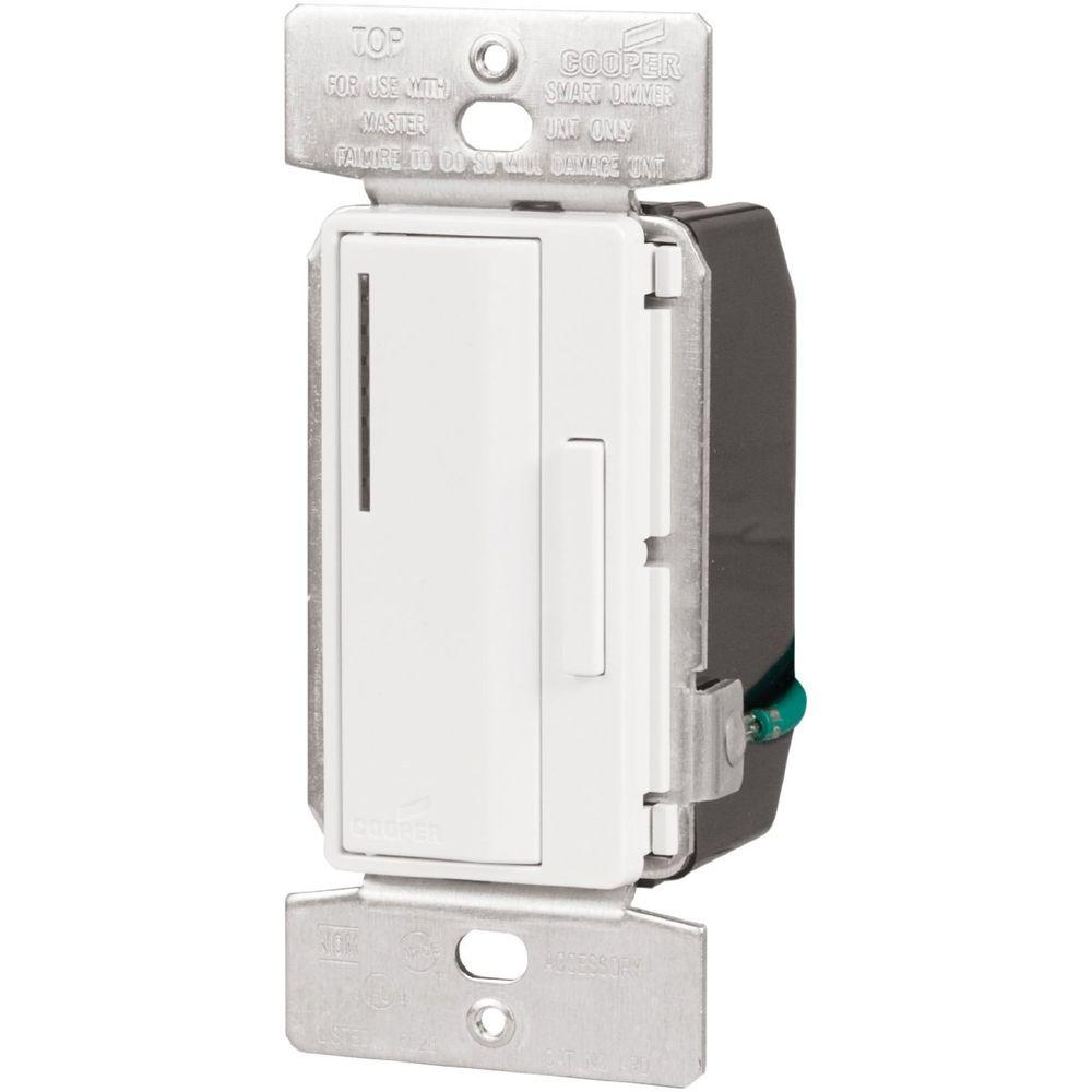 120-Volt Smart Accessory Dimmer with Preset, White