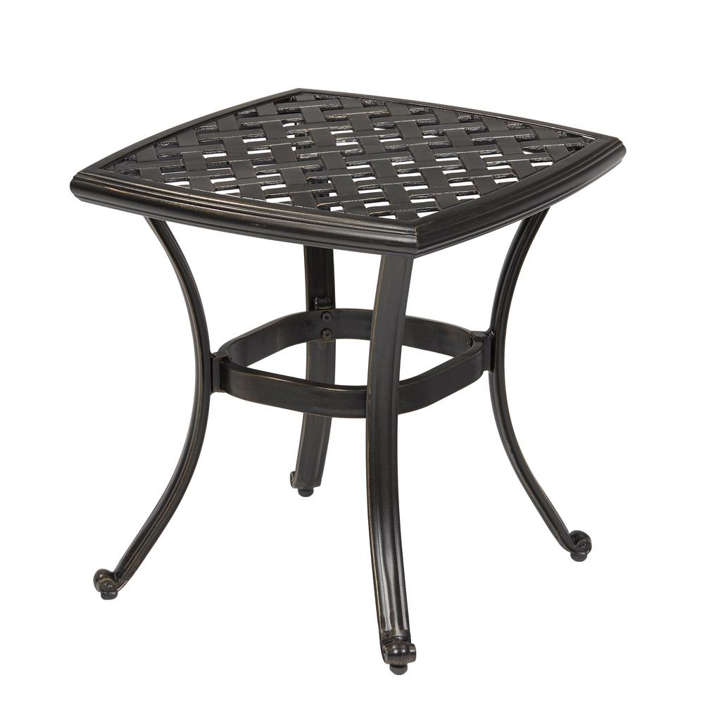 Outdoor metal patio coffee table chairs seating for Garden patio table