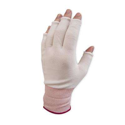 Half Finger X-Large Nylon Work Gloves (15-Pack)